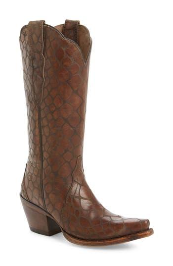 Ariat Antebellum Croc Embossed Western Boot