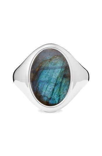 Women's Shinola Statement Labradorite Signet Ring