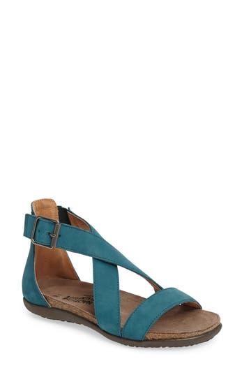 Women's Naot Rianna Crisscross Sandal, Size 5US / 36EU - Blue/green