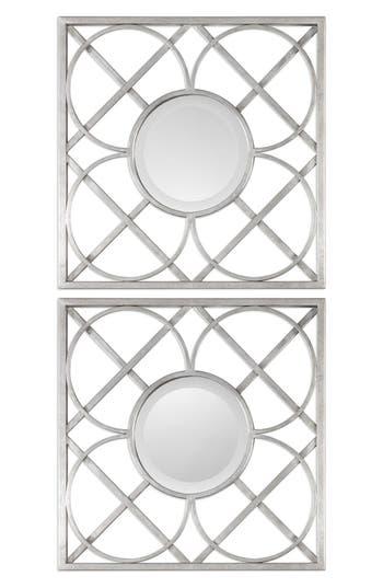 Uttermost Yasmina Set Of 2 Square Frame Wall Mirrors, Size One Size - Metallic