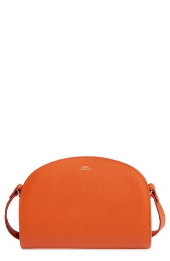 A.p.c. 'Sac Demi Lune' Leather Crossbody Bag -