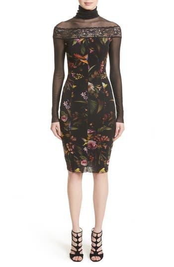 Women's Fuzzi Tulle Turtleneck Sheath Dress
