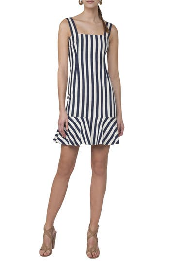 Women's Akris Punto Stripe Stretch Cotton Dress