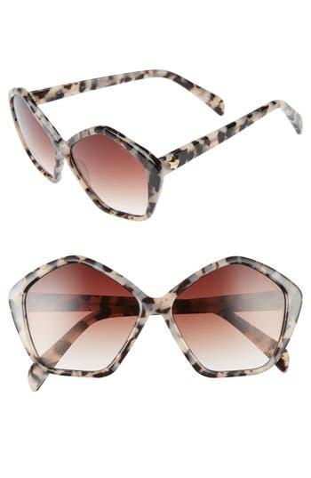 Women's Draper James 57Mm Gradient Lens Geometric Sunglasses -