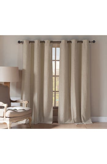 Duck River Textile Beya Natural Blackout Pole Top Window Panels, Size One Size - Beige