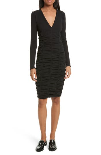 Opening Ceremony Ruched Dress, Black