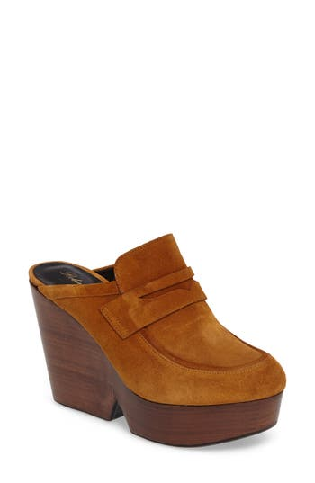 Robert Clergerie Damor Platform Loafer Mule, Brown
