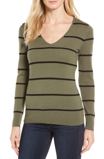 Women's Nordstrom Signature Stripe Cashmere Sweater