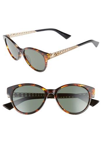 Women's Dior Diorama Mini 52Mm Mirrored Lens Special Fit Sunglasses - Havana/ Gold