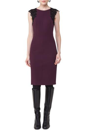 Women's Akris Punto Lace Trim Sheath Dress