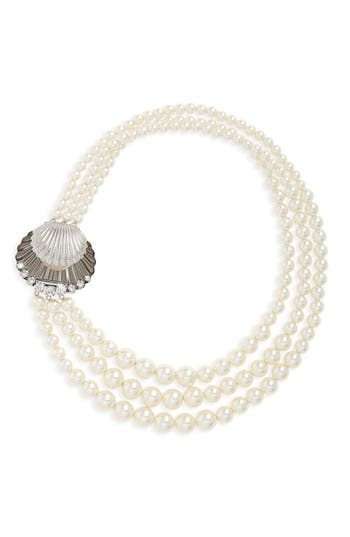 Women's Miu Miu Multistrand Imitation Pearl Necklace