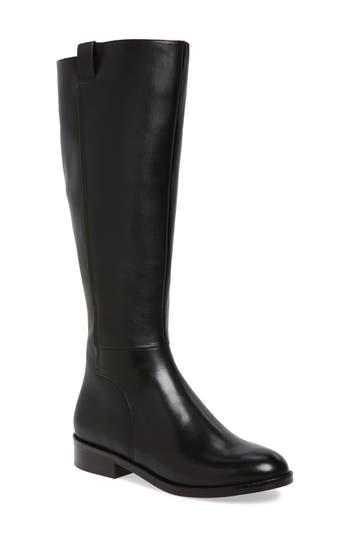 Women's Cole Haan Katrina Riding Boot, Size 8 Wide Calf M - Black