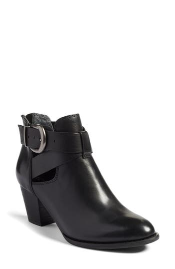 Vionic Rory Buckle Strap Bootie, Black