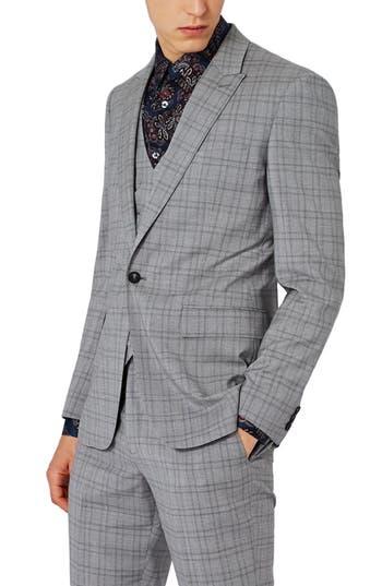 Men's Charlie Casely-Hayford X Topman Skinny Fit Check Suit Jacket