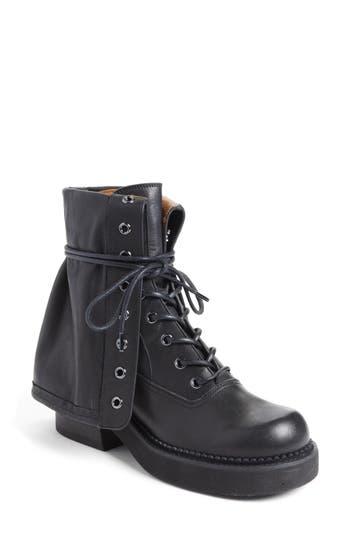 See By Chloe Katerina Foldover Combat Boot, Black