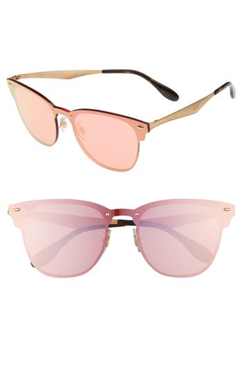 Women's Ray-Ban 52Mm Mirrored Sunglasses - Gold