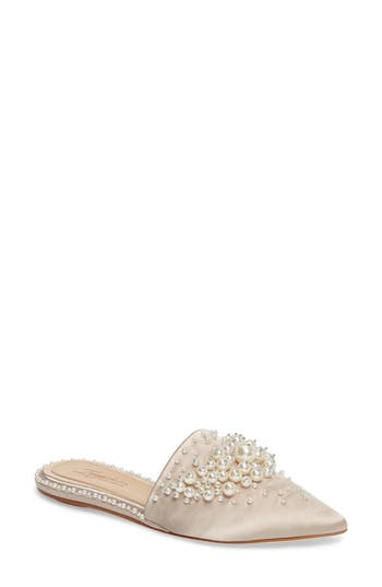 Imagine By Vince Camuto Casele Pointy Toe Mule- Beige