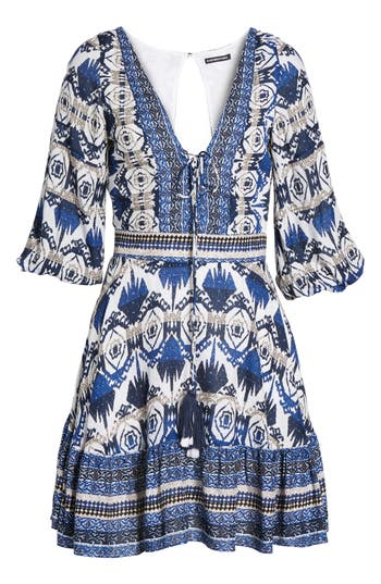 Women's Kas New York Camille Mixed Print Fit & Flare Dress