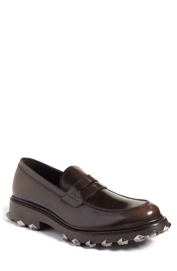Salvatore FerragamoMen's Darsen Leather Loafers with Injected Rubber Spikes OkBFdkts