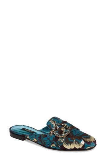 Women's Dolce & gabbana Embellished Backless Loafer, Size 6.5US / 37EU - Blue