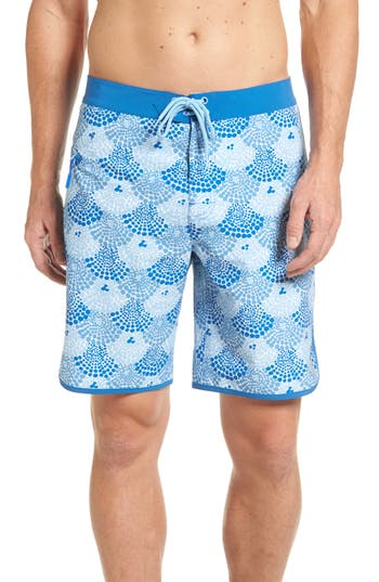 Vineyard Vines Dot Shells Board Shorts, Blue