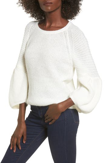 Women's Leith Bubble Sleeve Sweater, Size X-Small - Ivory
