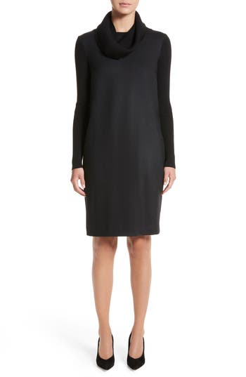 Women's Max Mara Cancan Wool Jersey Dress With Removable Knit Cowl