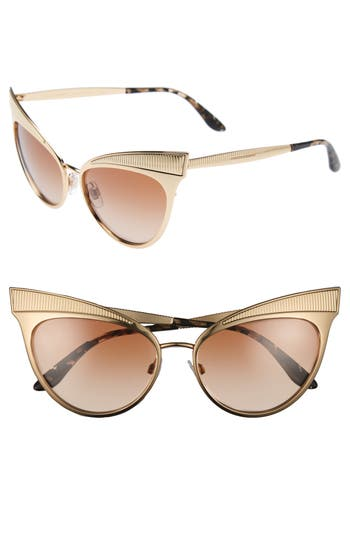 Women's Mdg Madonna For Dolce&gabbana 57Mm Gradient Cat Eye Sunglasses - Gold/ Brown Gradient
