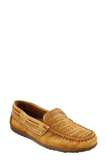Retro Vintage Flats and Low Heel Shoes Womens Taos Heritage Moccasin Flat $154.95 AT vintagedancer.com