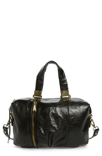 Hobo Derby Calfskin Leather Satchel - Black