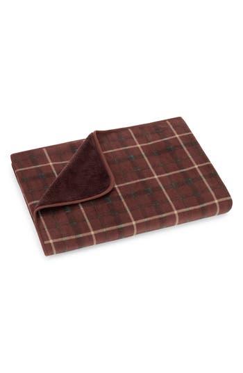 Pendleton Plaid Fleece Throw, Size One Size - Brown
