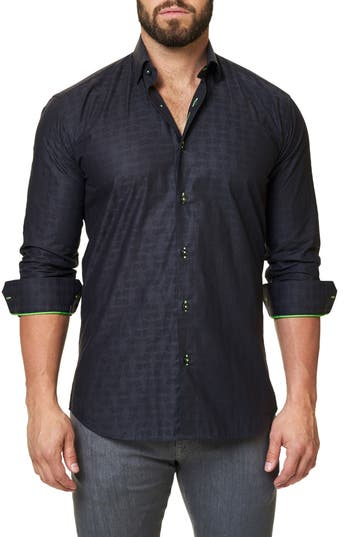 Men's Maceoo Trim Fit Print Sport Shirt