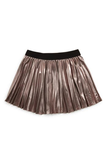 Toddler Girl's Bardot Junior Wild Hearts Metallic Pleat Skirt