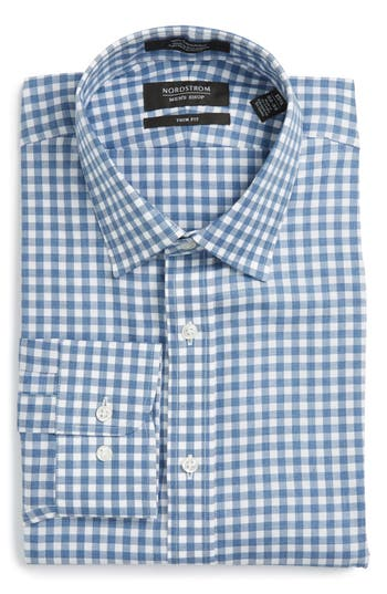 Men's Nordstrom Men's Shop Trim Fit Check Dress Shirt