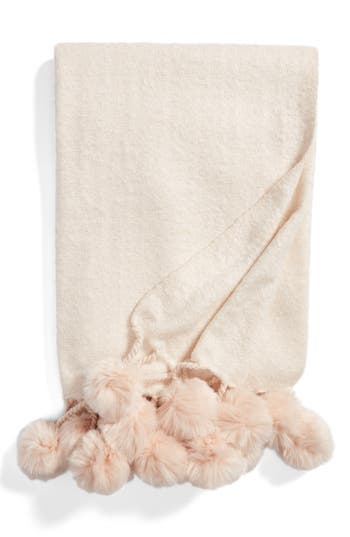 Nordstrom At Home Faux Fur Throw, Size One Size - Pink