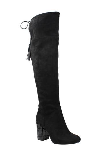 J. Renee Calcari Over The Knee Boot B - Black