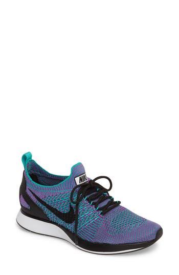 Women's Nike Zoom Mariah Flyknit Racer Premium Sneaker, Size 6 M - Blue/green