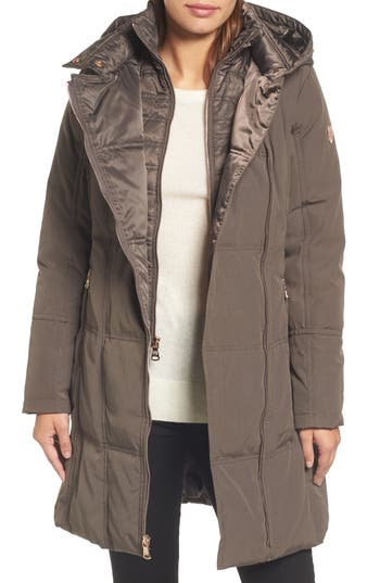 Vince Camuto Down & Feather Fill Coat, Beige