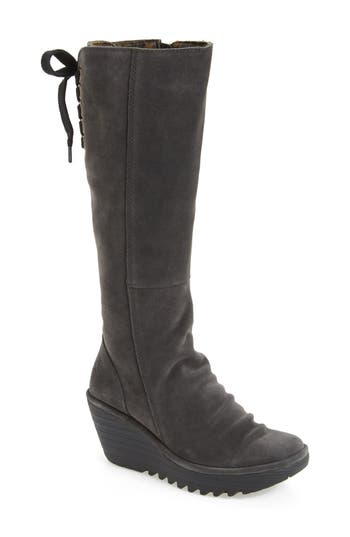 Women's Fly London 'Yust' Knee High Platform Wedge Boot