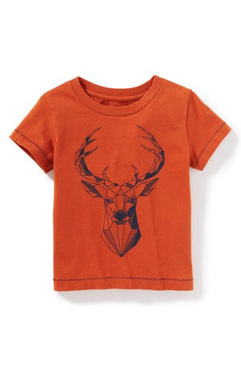 Infant Boy's Peek Geo Deer Graphic T-Shirt, Size L (12-18m) - Red