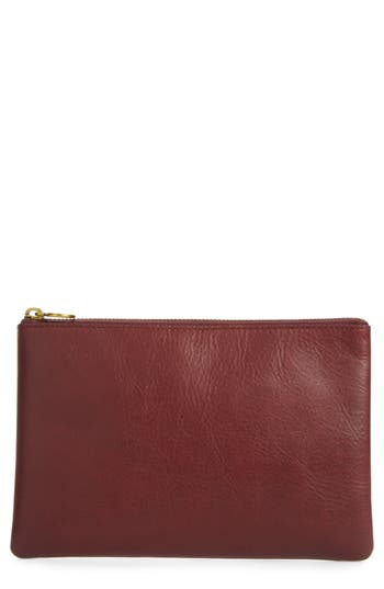 Madewell The Leather Pouch Clutch -