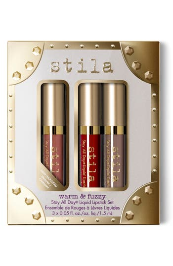 Stila Warm & Fuzzy Stay All Day Liquid Lipstick Set - No Color