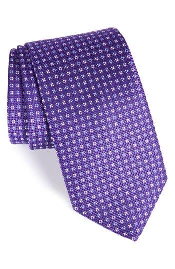 Men's Eton Neat Silk Tie, Size Regular - Purple