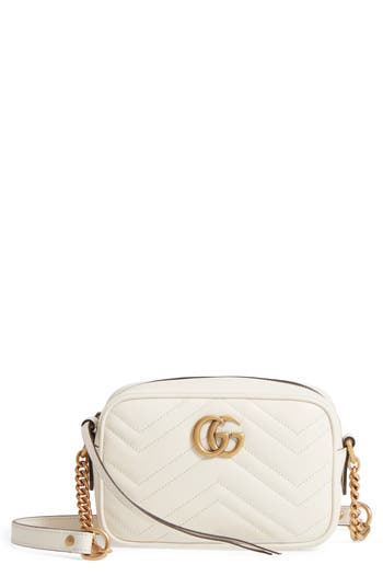 Gucci Gg Marmont 2.0 Matelasse Leather Shoulder Bag - White