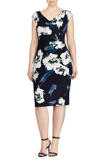 Plus Size Women's Lauren Ralph Lauren Floral Sheath Dress