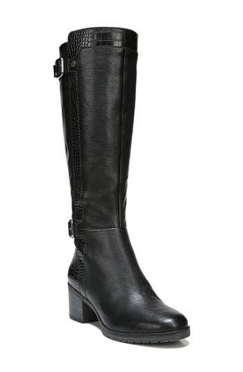 Naturalizer Rozene Knee High Boot, Regular Calf- Black