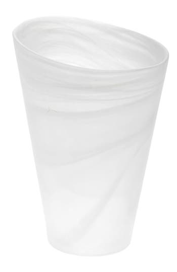 Shiraleah Frosted Glass Vase, Size One Size - White