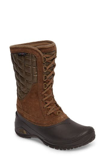 The North Face Thermoball(TM) Utility Waterproof Boot, Brown