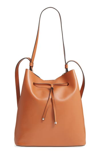 Lodis Silicon Valley Large Halina Leather Bucket Bag - Brown