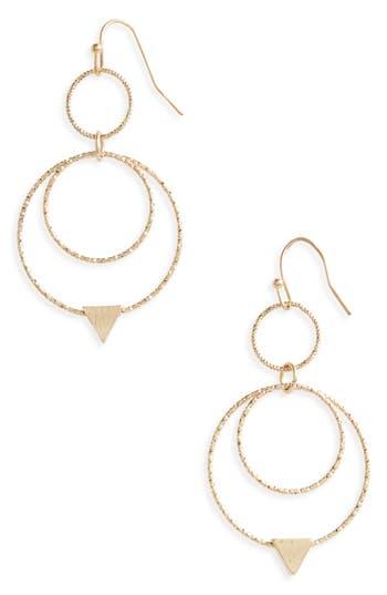 Women's Canvas Double Hoop Earrings